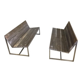 Mamagreen Outdoor Benches - A Pair