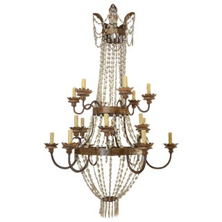 Large Early 19th Century Italian Chandelier