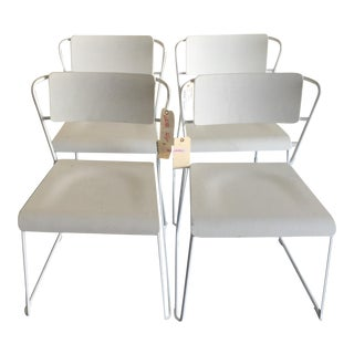 HD Buttercup White Dining Chairs - Set of 4