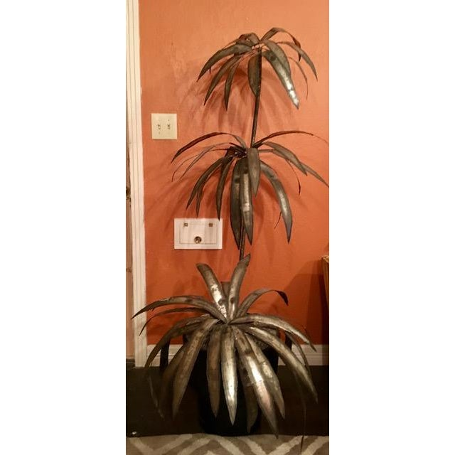 Mid-Century Brutalist Potted Palm Tree - Image 2 of 10