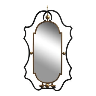 Gilbert Poillerat Style Wrought Iron Mirror
