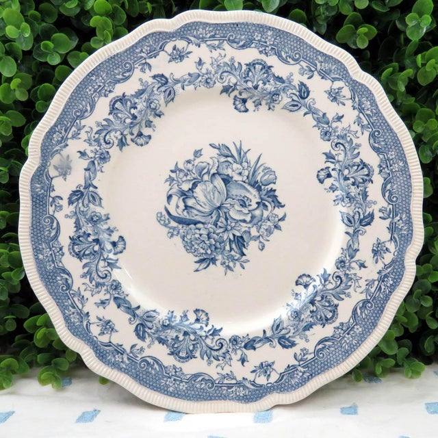 Vintage Mismatched Ironstone Dinner Plates - Set of 4 - Image 9 of 11