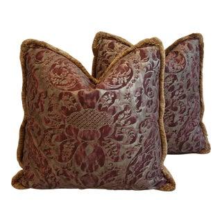 Designer Italian Fortuny Caravaggio Feather/Down Pillows - a Pair
