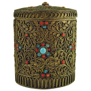 Brass Filigree Box