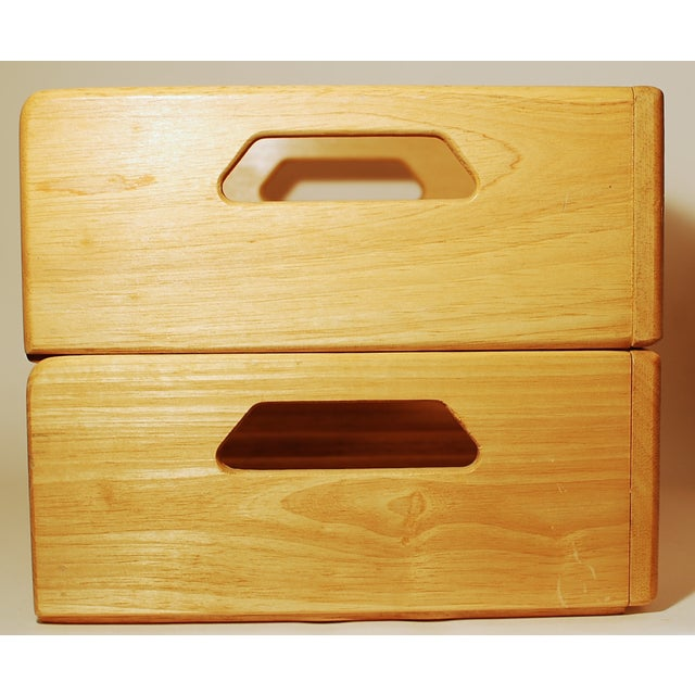 Maple Nesting Wine Carriers - A Pair - Image 5 of 6