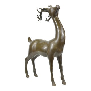 Hunter Vanderveen Deer Buck Bronze Statue