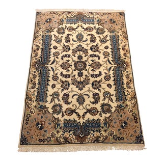 Handmade Persian Naien Wool Rug - 3′6″ × 5′3″