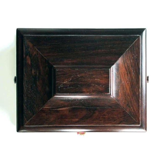 A Handsome and Well-Made English Regency Rosewood Bombe-Form Jewelry Box - Image 4 of 7