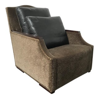 RJones Aviemore Lounge Chair With Premier Leather Back Pillows