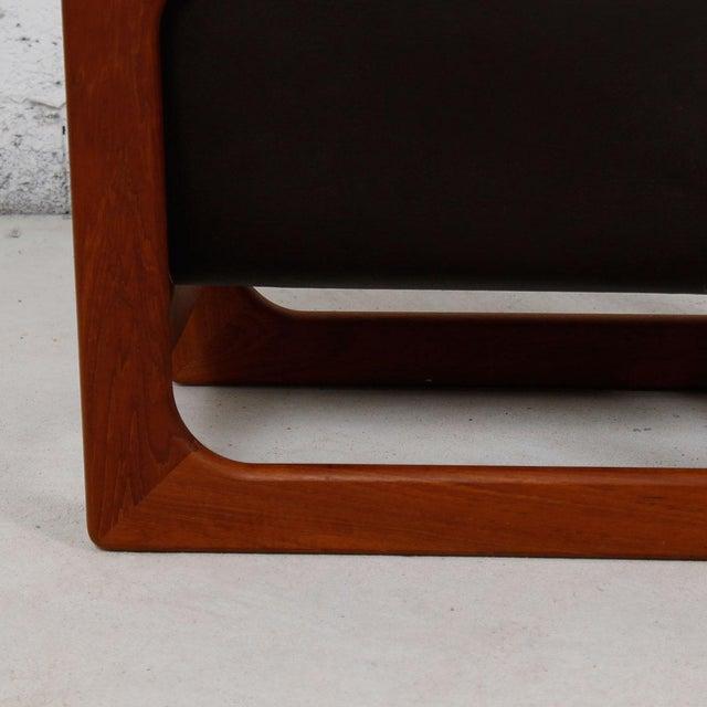 Danish Modern Teak & Leather Magazine Rack - Image 4 of 8