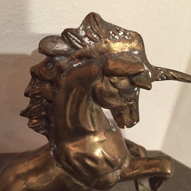 Image of Vintage Brass Unicorn Figurine