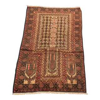 "Vintage Persian Baluchi Rug- 2'7"" x 4'4"""