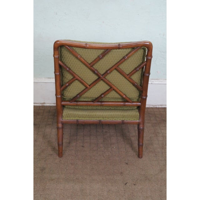 Century Furniture Co. Faux Bamboo Lounge Chair - Image 4 of 10
