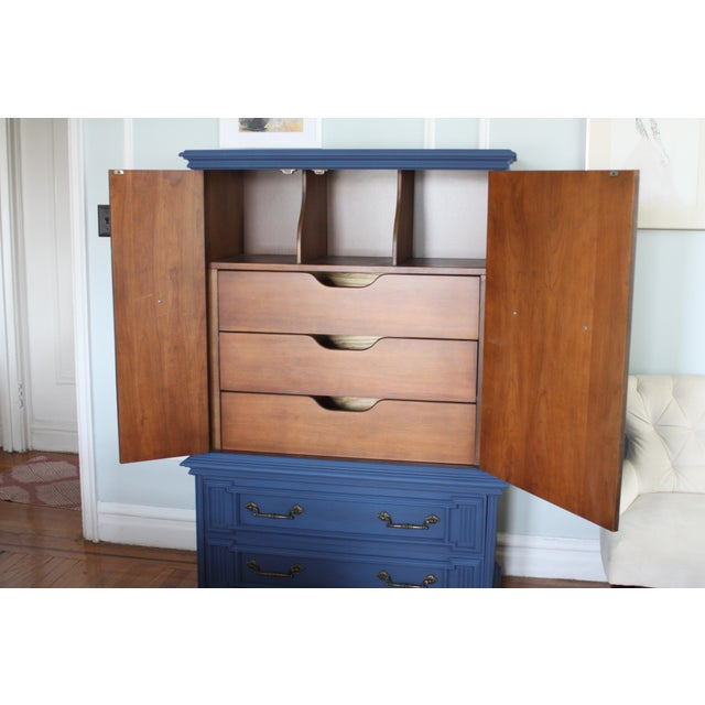 Vintage Blue Lucille Armoire - Image 7 of 7