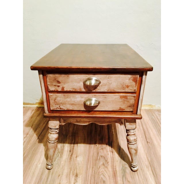 Farmhouse Rustic Side Table - Image 4 of 11