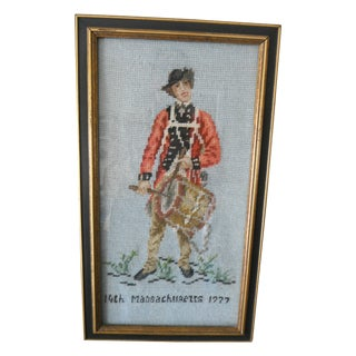 Massachusetts 1777 Revolutionary Army Needlepoint