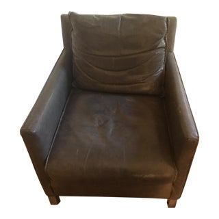 Room & Board Smoke Leather Bram Chair
