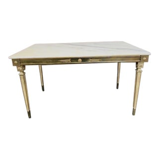 Maison Jansen Style French Marble Top Coffee Table