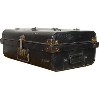 Pitch Black Iron Traveler's Trunk