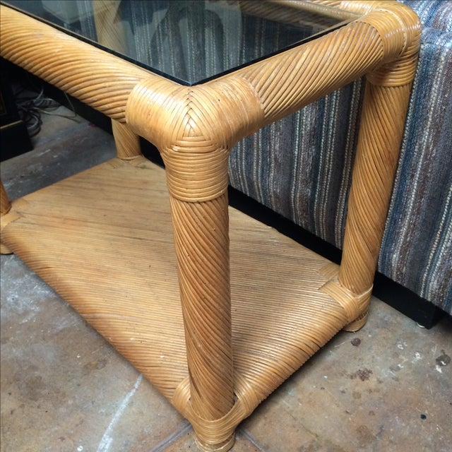 Two Tier Rattan Table - Image 6 of 6