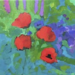 "Image of ""Poppy Red "" Painting by A. Carrozza Remick"