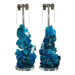 Rock Candy Glass Lamps in Midnight Ice