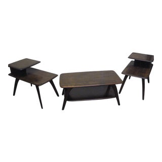 Heywood Wakefield Mid-Century Coffee Table & End Tables- Set of 3