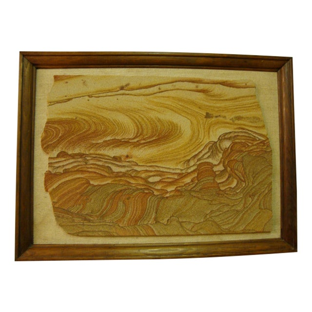 Image of Mid-Century Sandstone Slab Wall Art