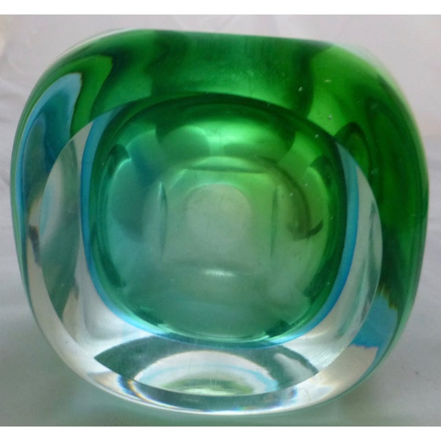 Vintage Murano Glass Sommerso Vase by Flavio Poli - Image 7 of 9