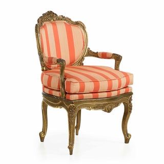 19th Century French Carved Louis XV Arm Chair