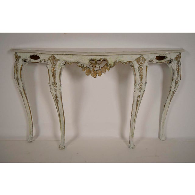 Louis XV-Style Italian Marble Top Wall Console - Image 2 of 8
