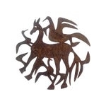 Image of Signed Haitian Metal Wall Sculpture by Damien Paul