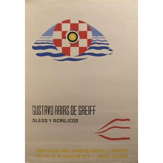 Original South American Art Exhibition Poster, 1977