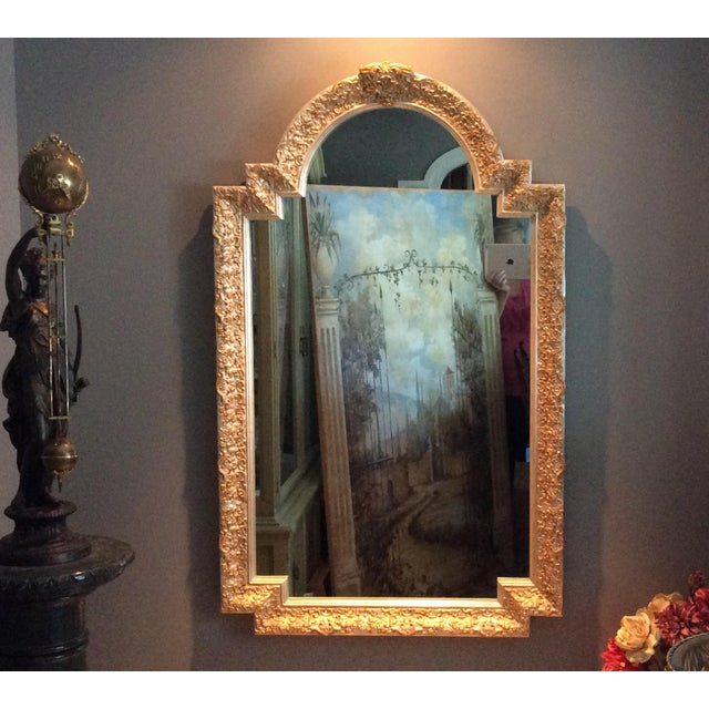 Carvers Guild White Pearl and Gold Mirror - Image 3 of 9