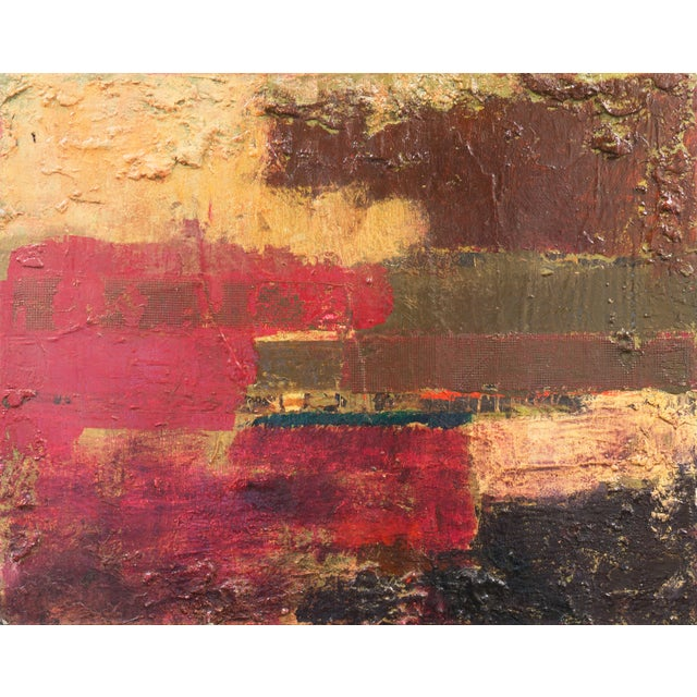 Textural Abstract Oil Painting - Image 1 of 7