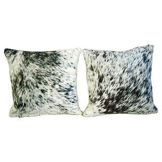 Natural Cowhide & Down Pillows - A Pair