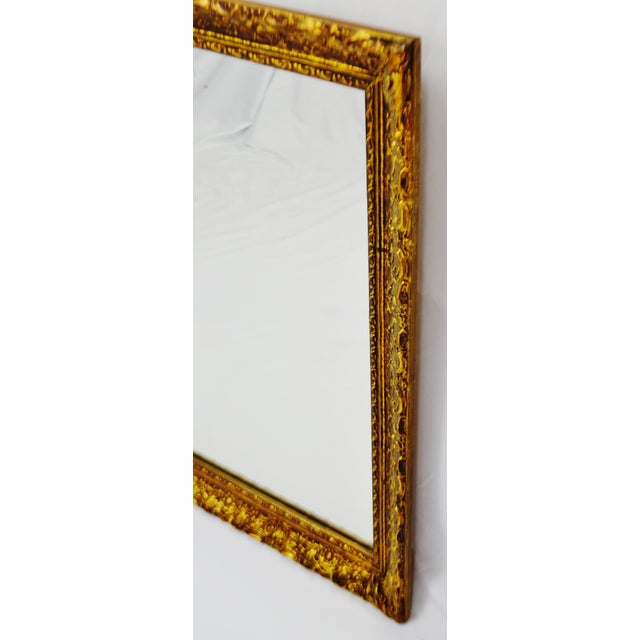 Vintage 1964 Gold Gilt Gesso Framed Wall Mirror - Image 8 of 9