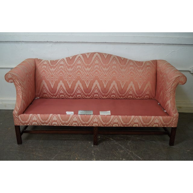 Southwood Mahogany Chippendale Style Flame Stitch Sofa - Image 10 of 10