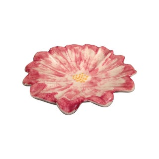 Vintage Stangl Pottery Pink Anemone Floral Dish