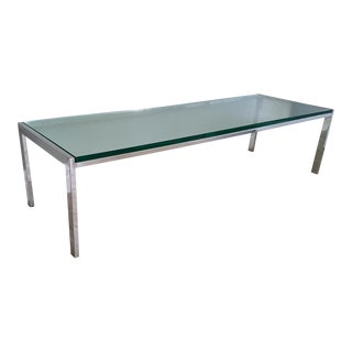 1970's Chrome Coffee Table Attr. Milo Baughman