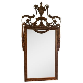 French Louis XVI Style Gilt Gold Mirror