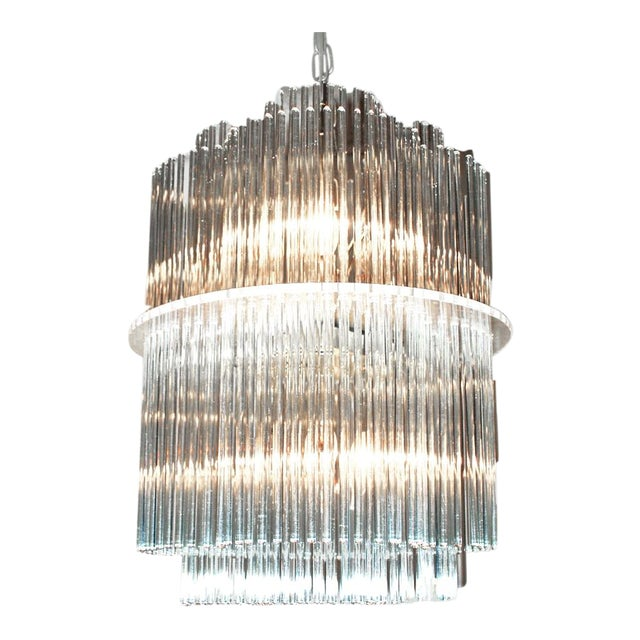 Sciolari Style Clover Glass Chandelier - Image 1 of 4