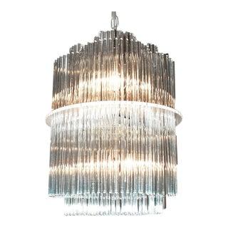 Sciolari Style Clover Glass Chandelier