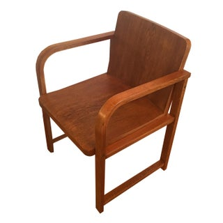 Vintage Art Deco Oak Armchair