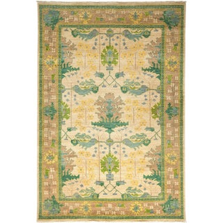 """Arts & Crafts Hand Knotted Area Rug - 6'1"""" X 8'9"""""""
