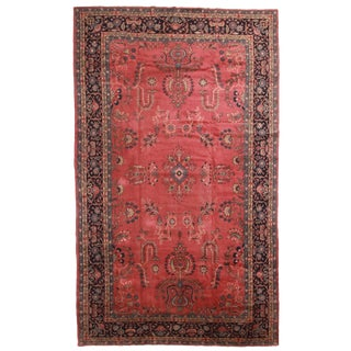 Antique Hand Knotted Wool Turkish Sparta Rug - 9′ × 15′