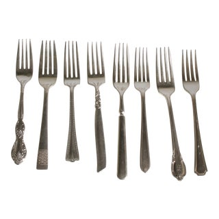 Vintage Silverplate Dinner Forks - Set of 8