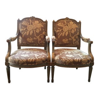 Antique Louis XVI Armchairs - A Pair