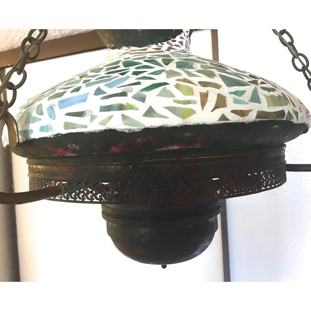Vintage 1940s Mosaic Ceiling Lamp - Image 5 of 10