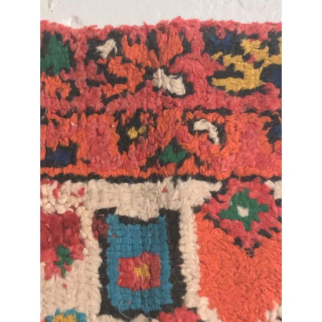 Stuffed Vintage 100% Moroccan Rug Wool Pillow Made in Marrakesh - Image 5 of 11
